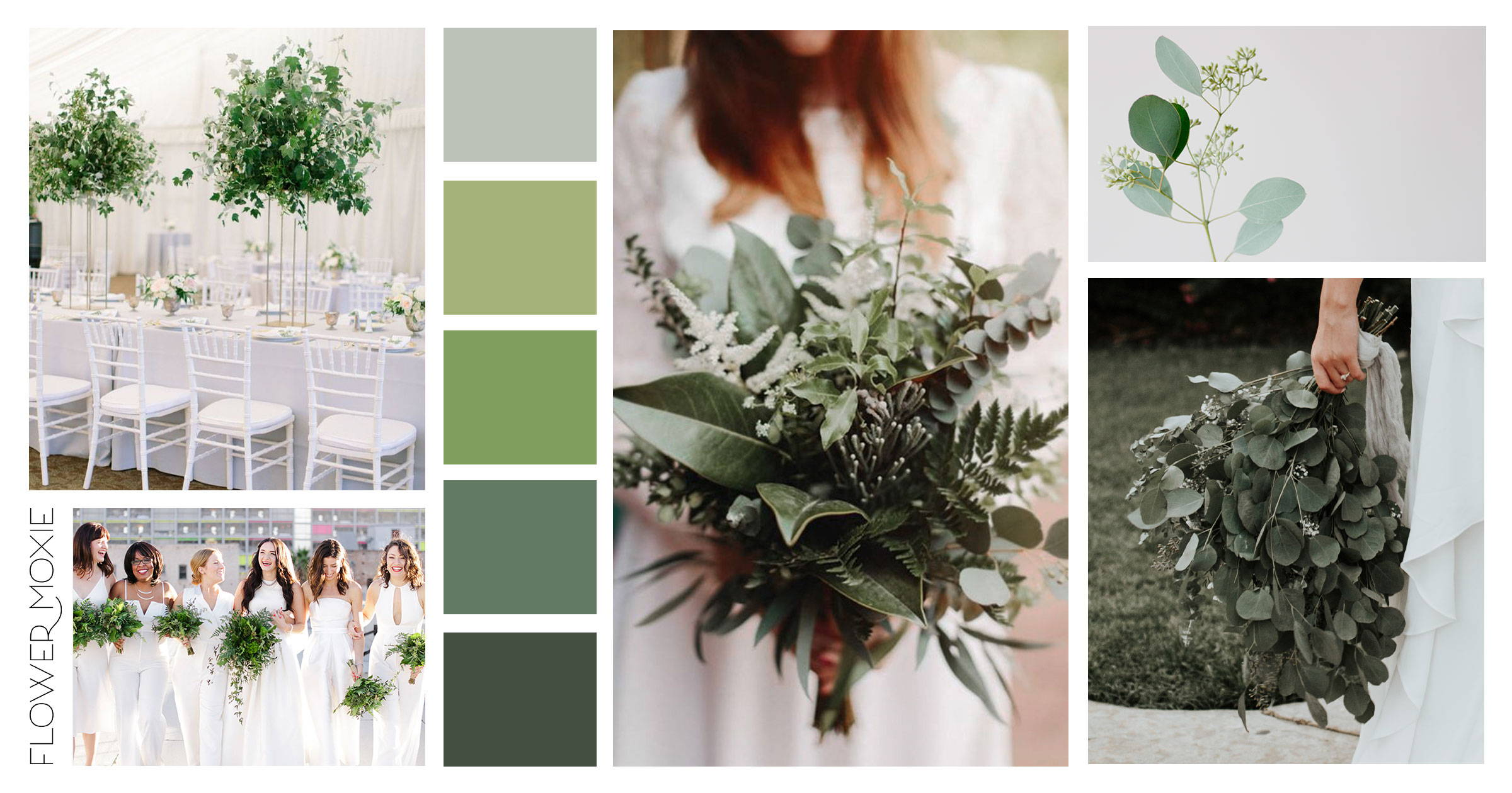 Greenery Only Wedding Flower Packages Flower Moxie