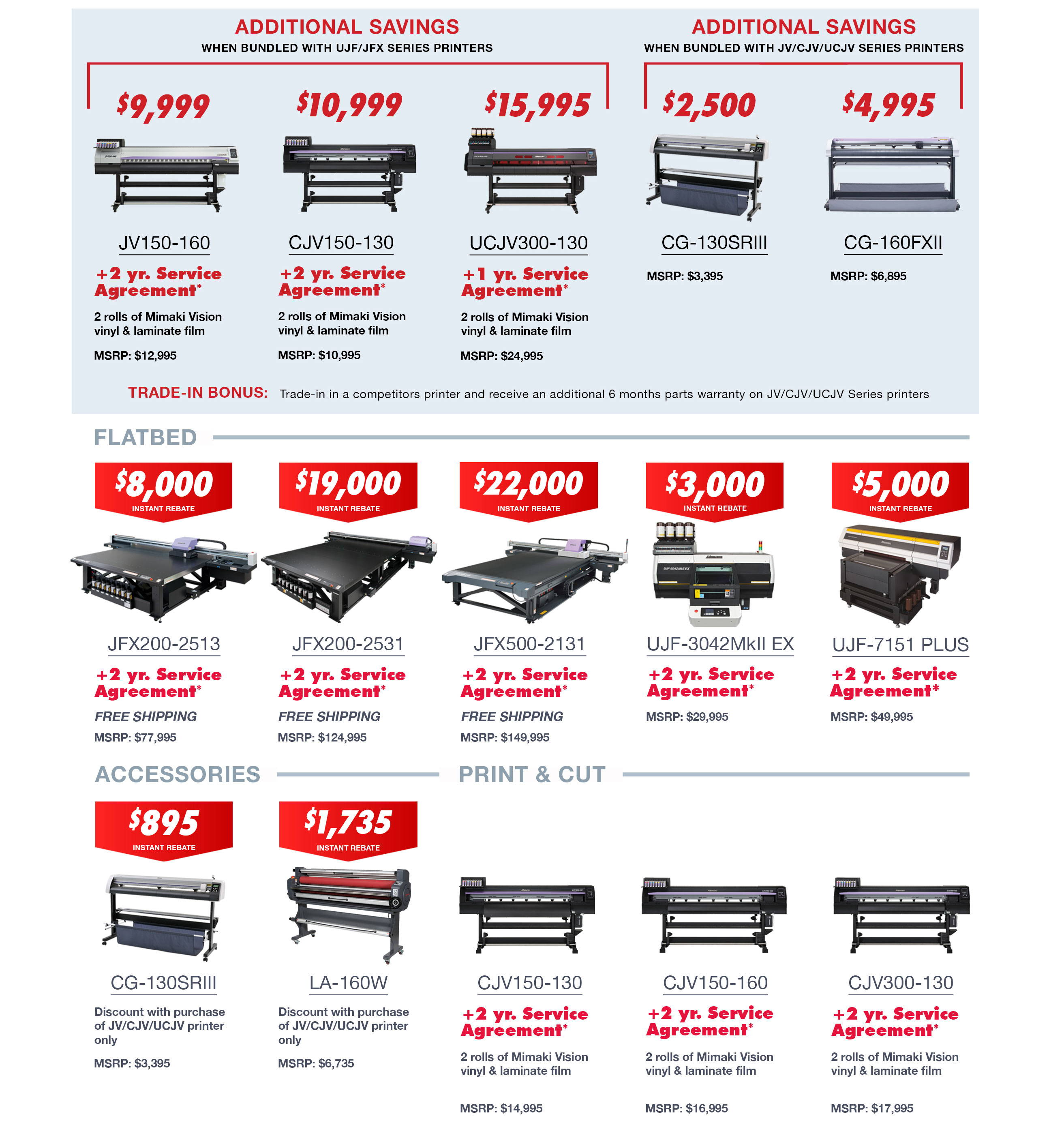 Mimaki Savings