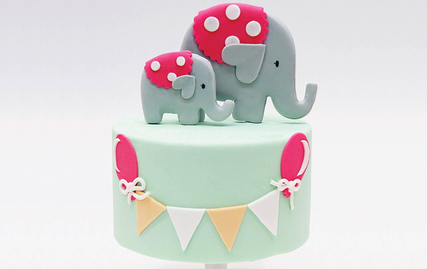 Elephant Cake Topper Tutorial DIY | Fondant Step by Step ...