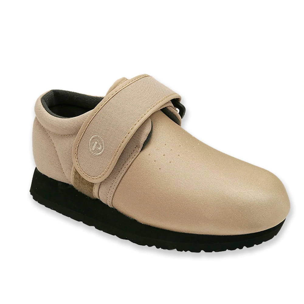 Pedors Beige Classic Shoes For Swollen Feet Edema Lymphedema