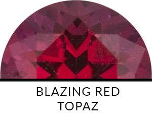 Blazing Red Topaz
