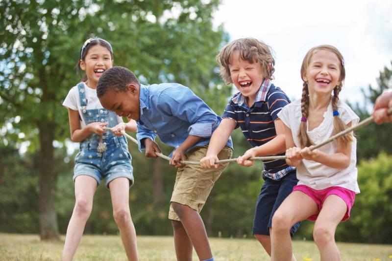 Children Playing Tug A War