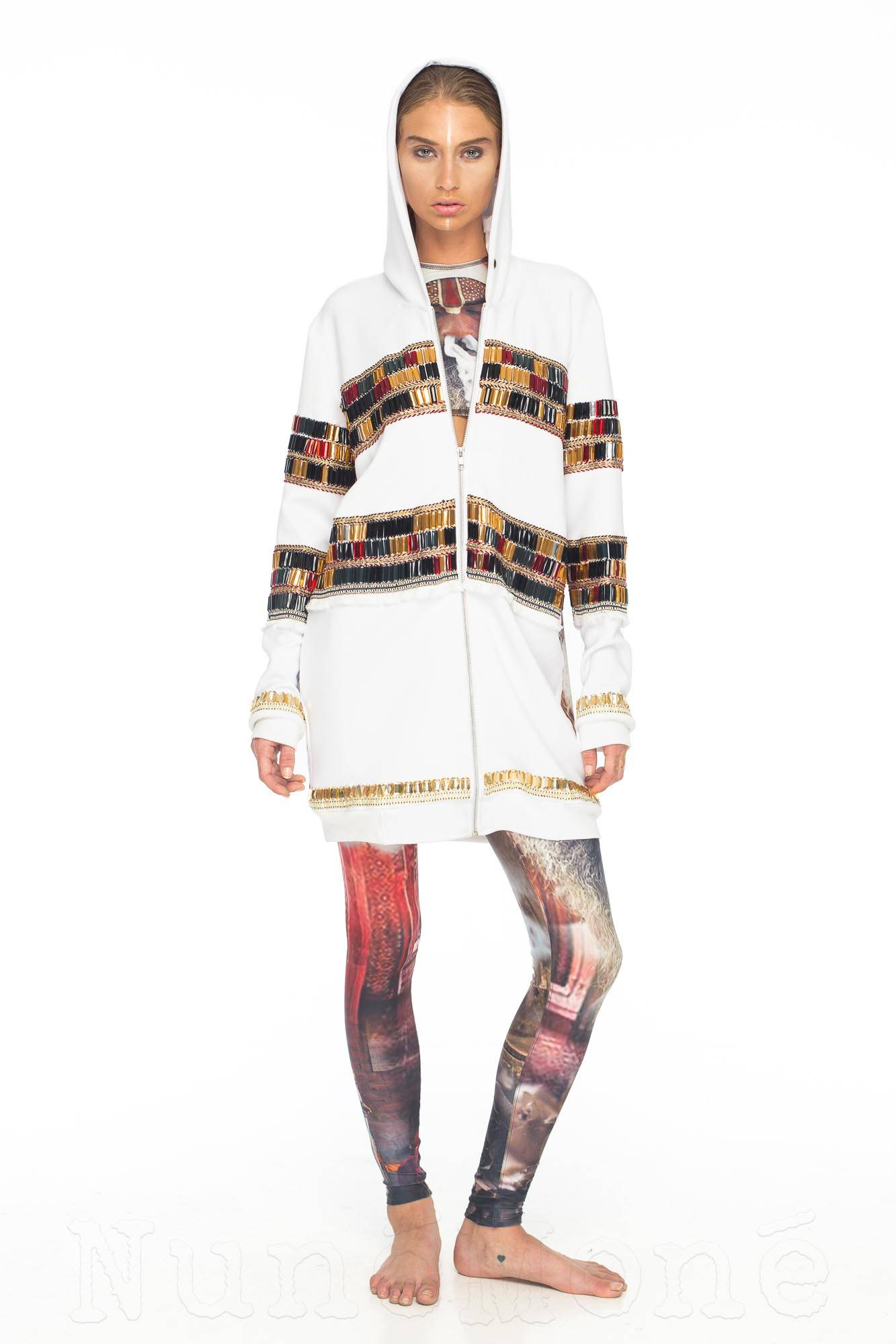 Sadhu Jacket Beaded with Back Print