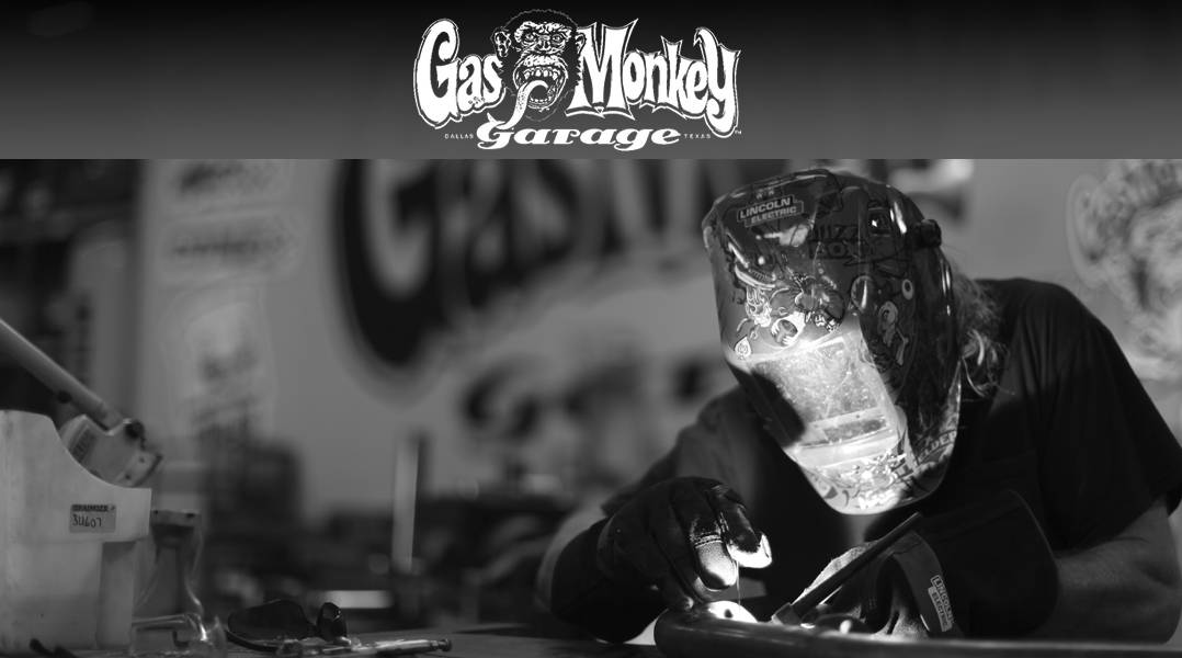 Official Licensed Gas Monkey Garage  Original Logo Hoodie S-XXL Gray or Black