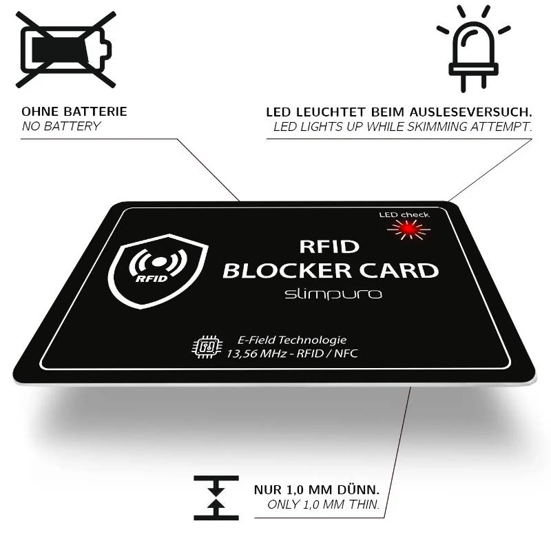 RFID Blocker Karte RFID Schutz RFID skimming protection