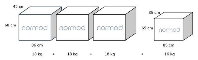 Normod üçlü koltuk paket ölçüleri