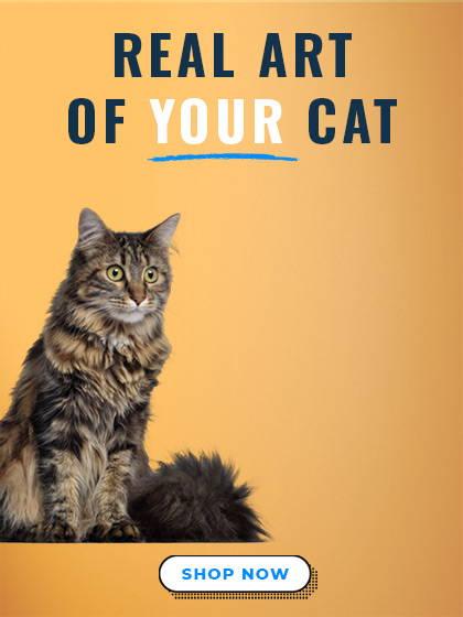 custom cat art mobile banner