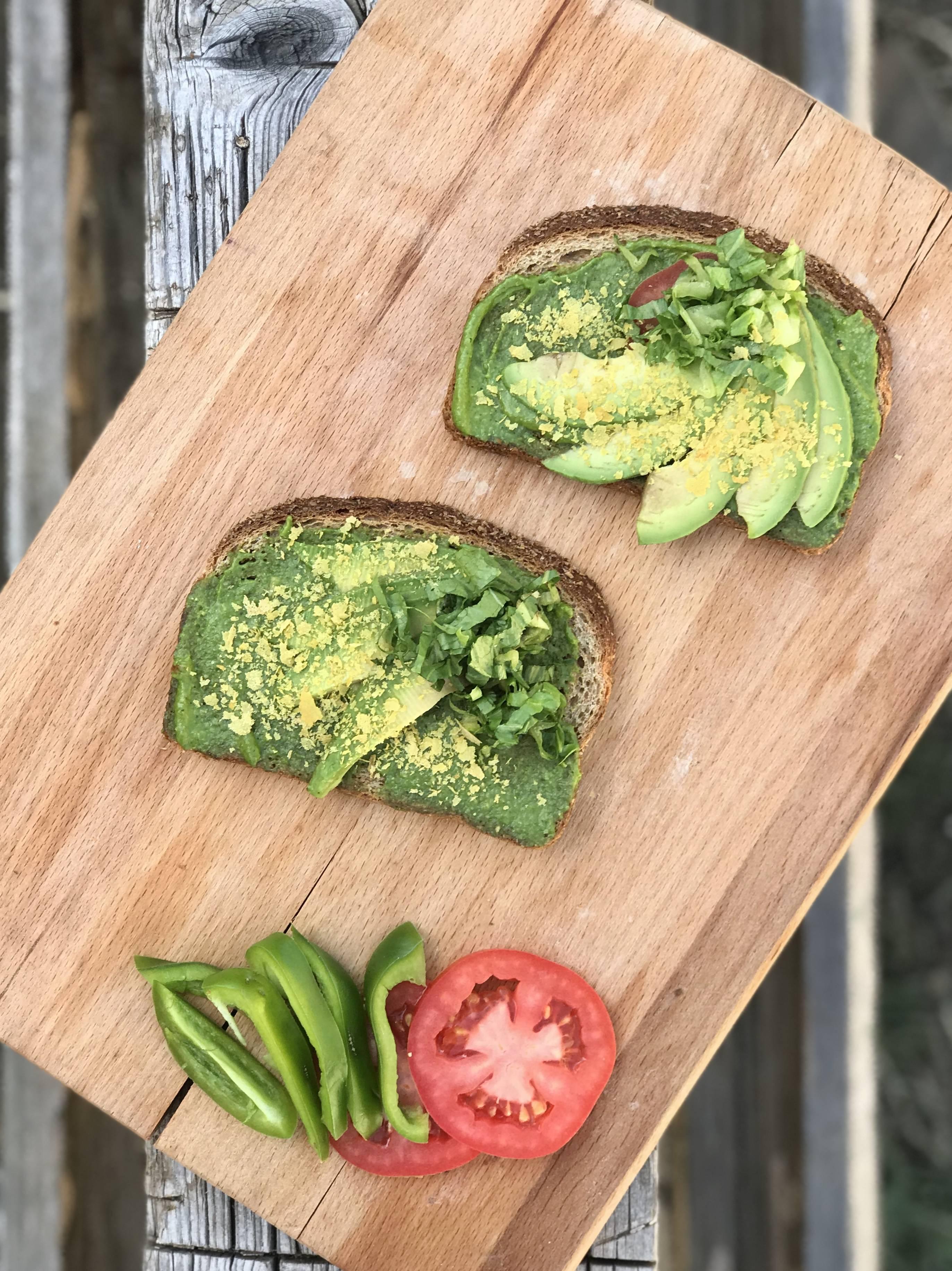Avocado toast with herb recipe at DopeBoo