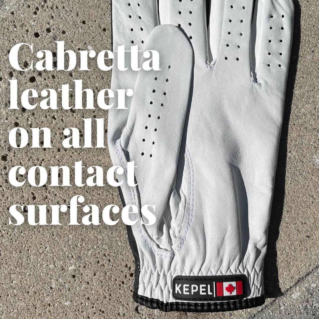 Cabretta leather palms