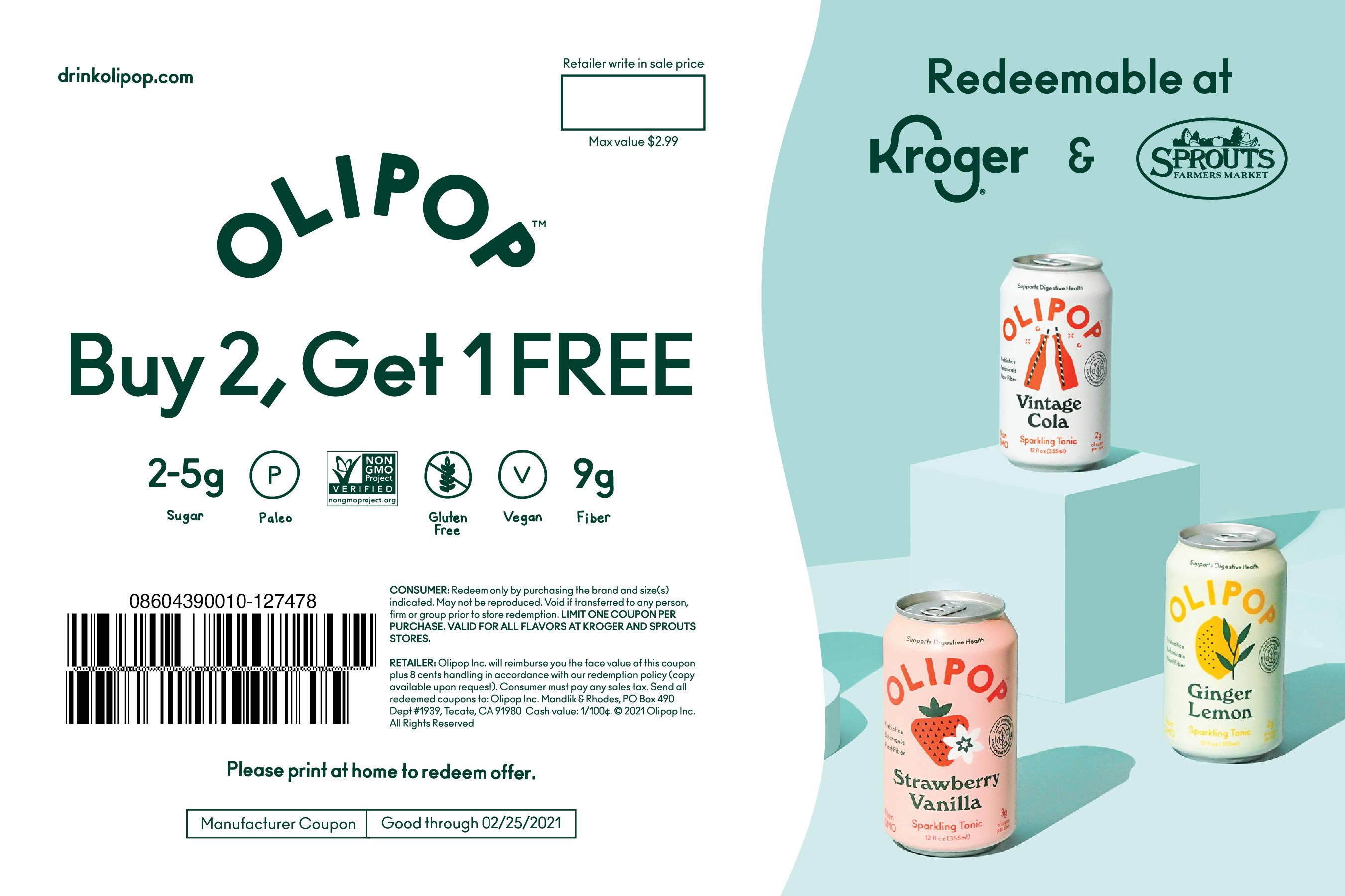 Buy 2, Get 1 Free coupon