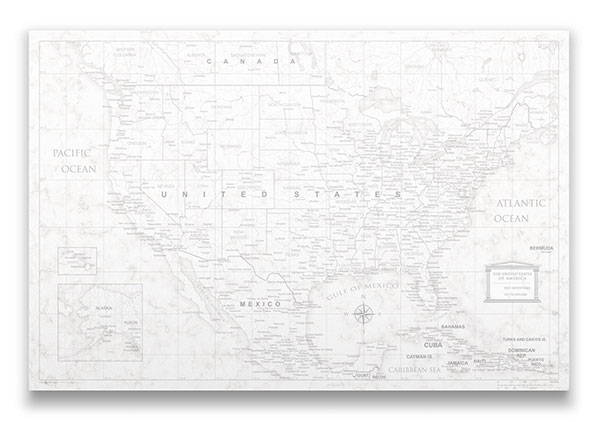 United States Map Pin Board classic Marble