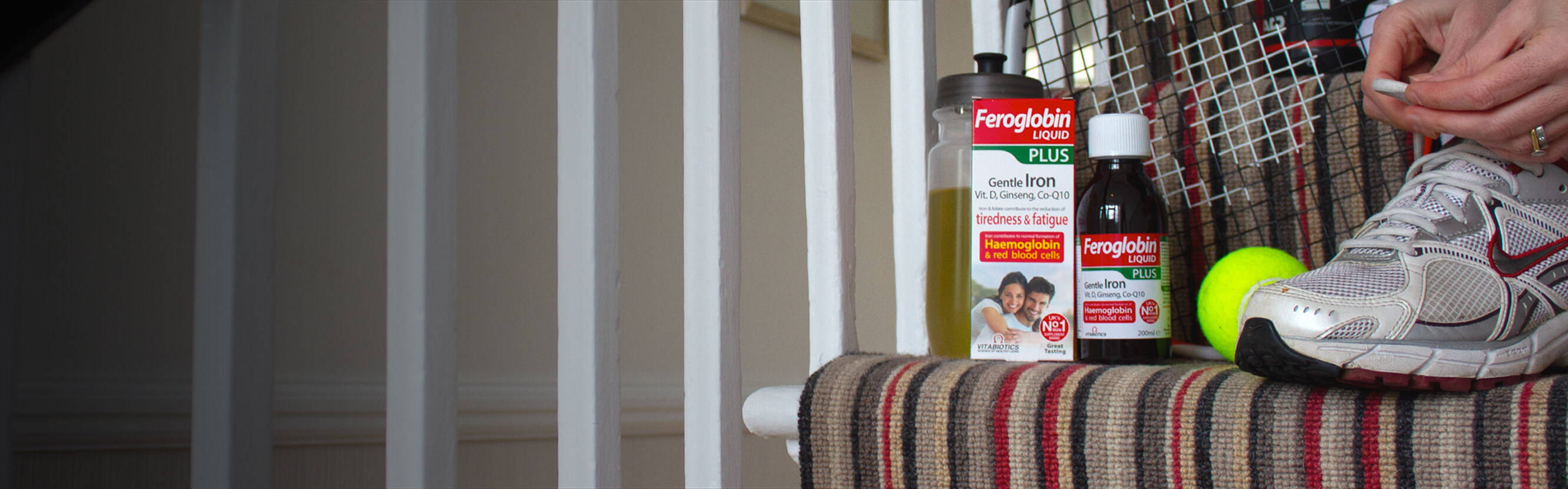 Feroglobin Liquid Plus gives you all the benefits of our original gentle liquid Iron with added nutrients like Vitamin D, Siberian Ginseng, Co-Q10 and more. It's a source of wide-ranging support in one delicious honey and orange blend.