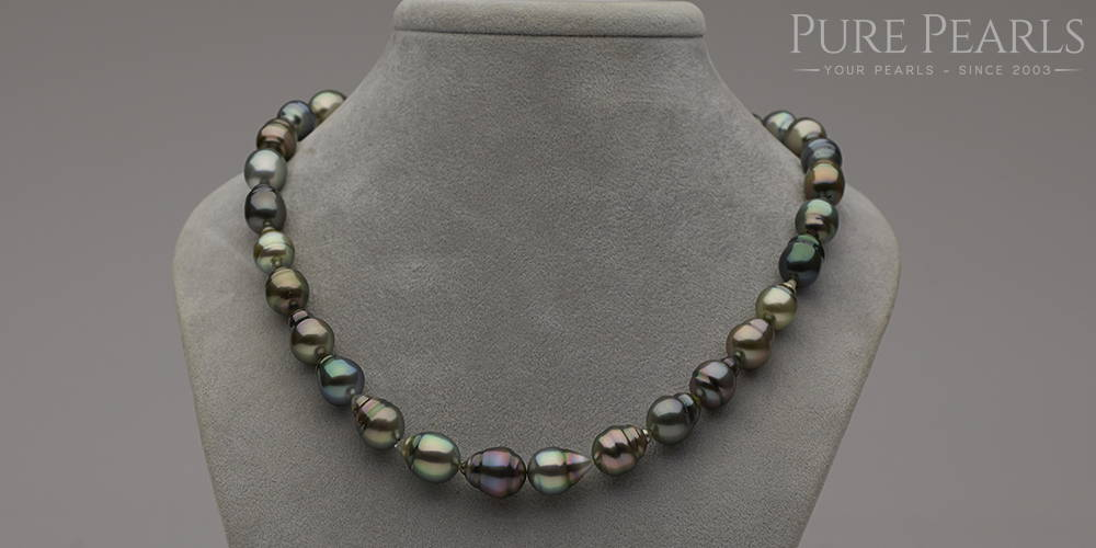 Multi-Color Tahitian Pearl Necklace - Modern Pearl Jewelry