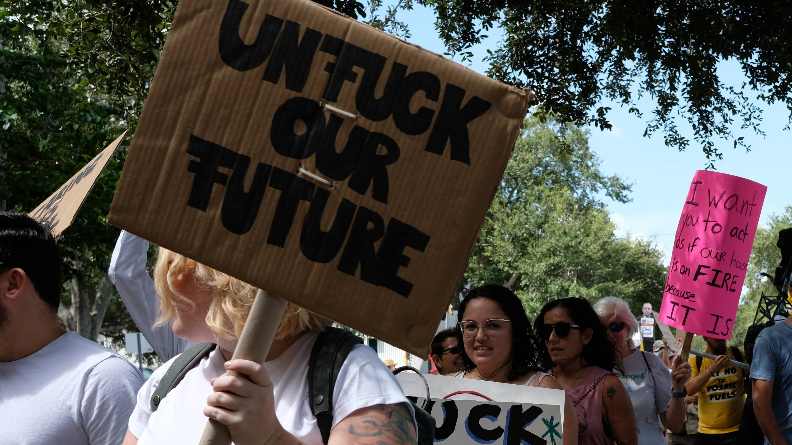 Climate Strike in St. Petersburg Florida Activists Marching For An End To Climate Crisis