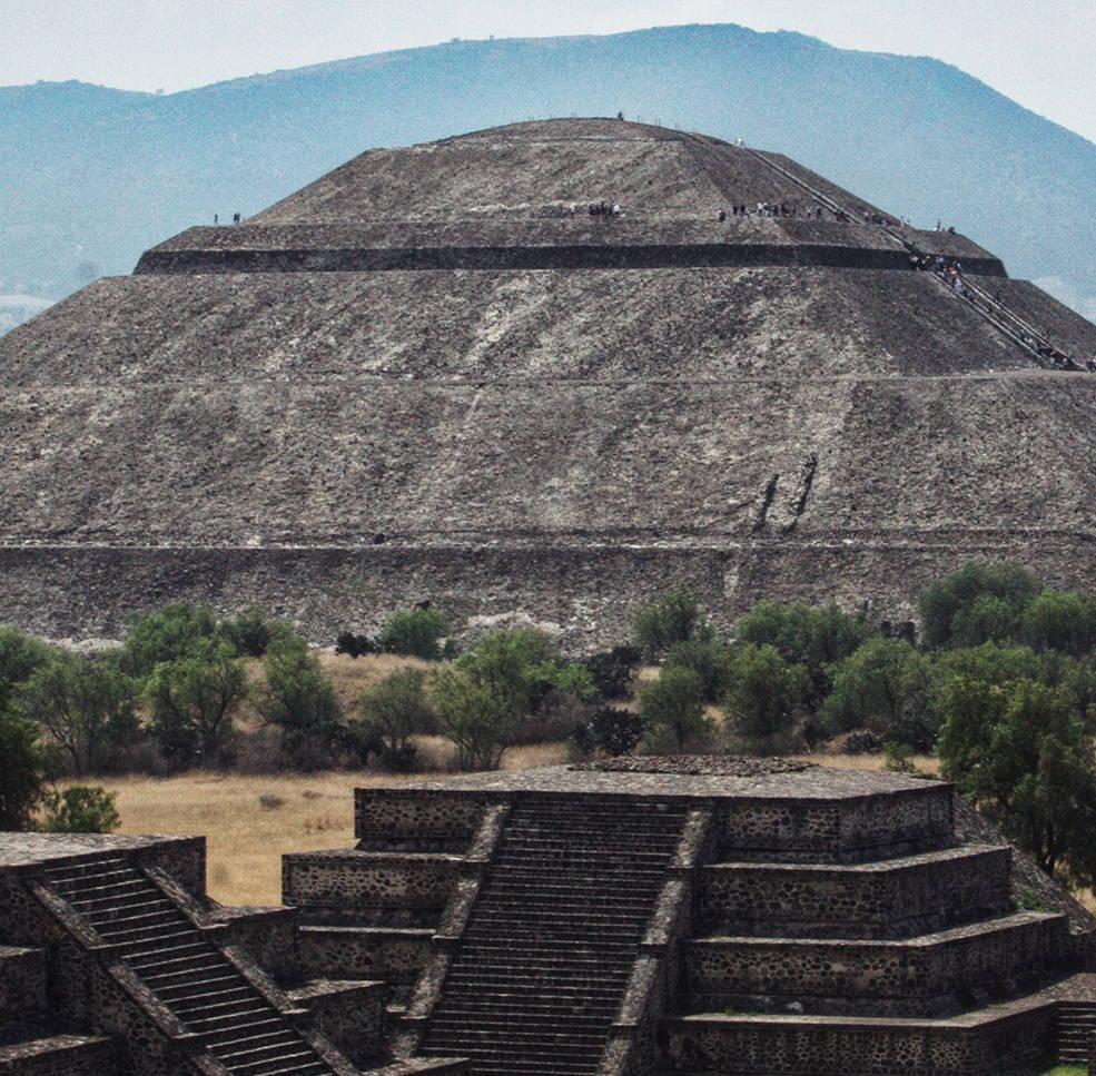 CAMILLA Print Inspiration, aztec temples