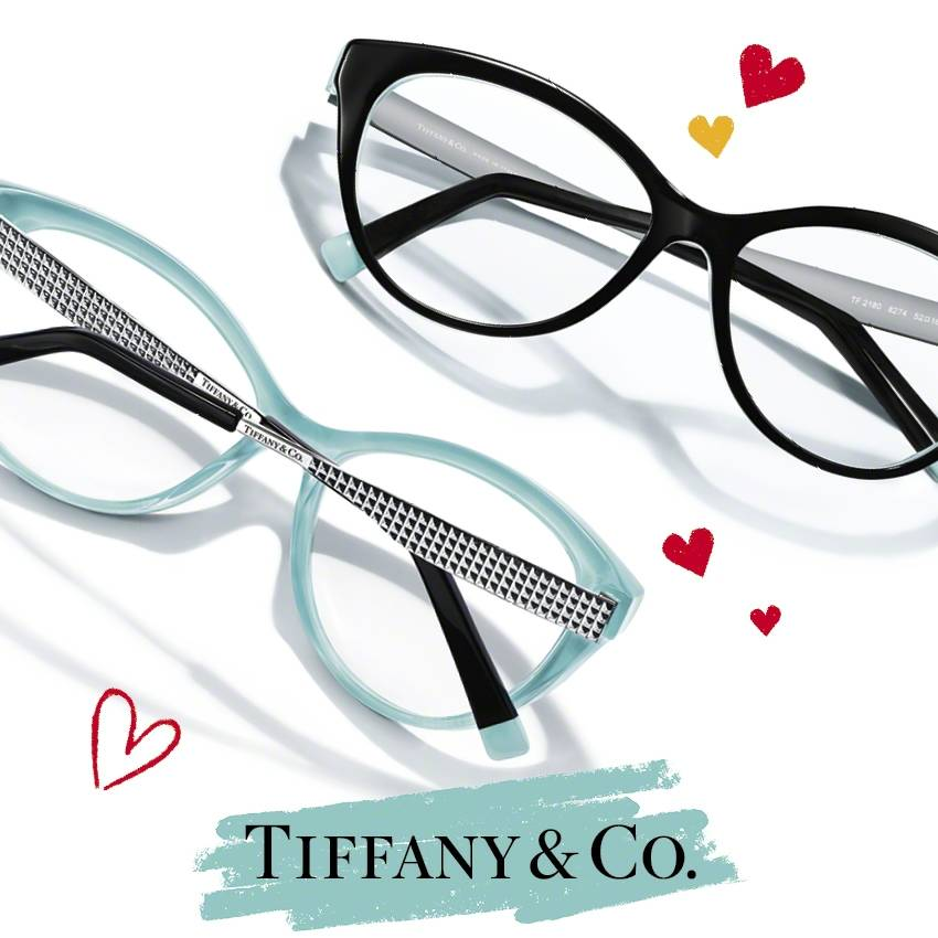 b5959613fa6 Temple  Flat metal temples with metal diamond point studs with acetate  temple tips featuring a touch of Tiffany Blue