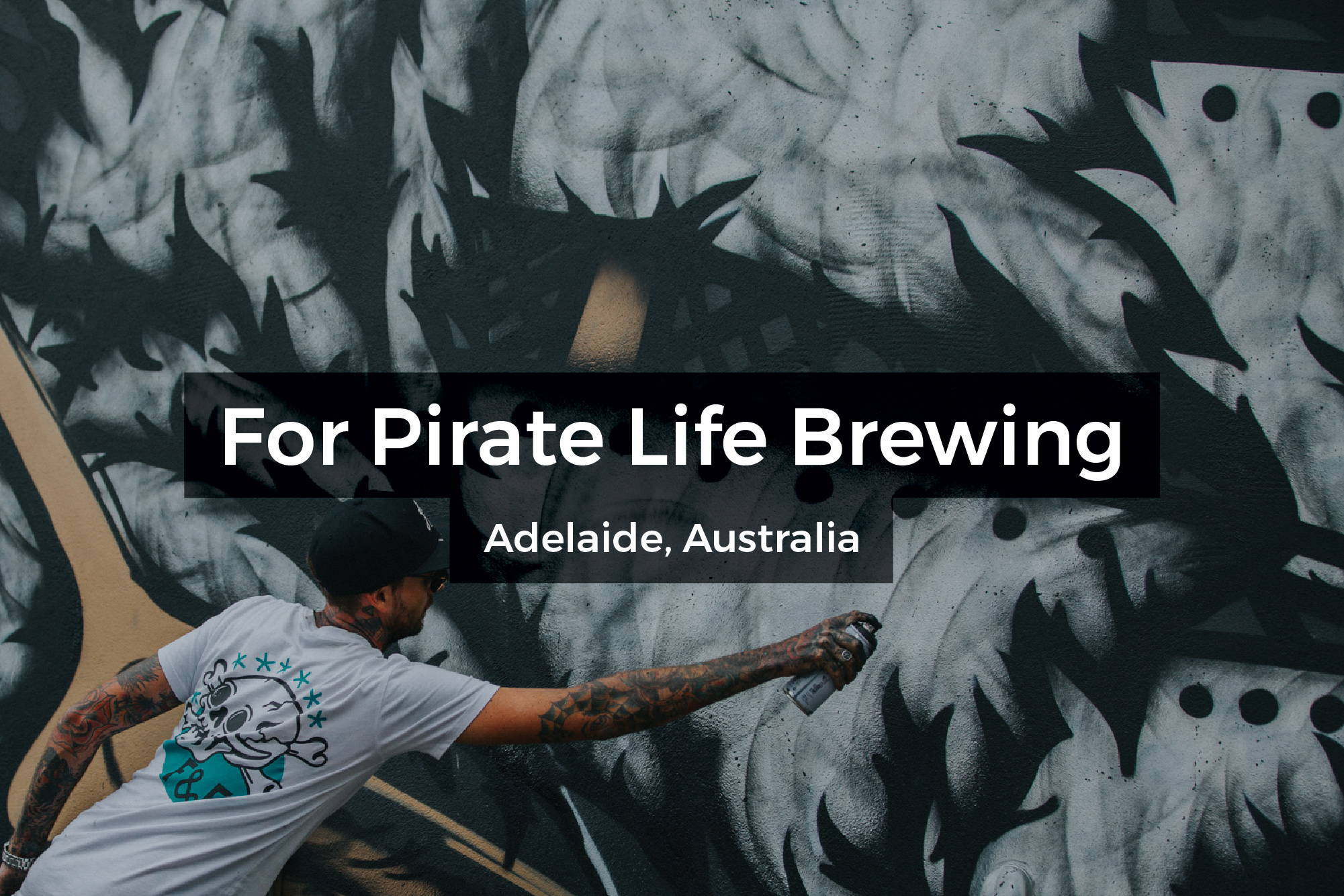 Pirate Life Brewing mural in Adelaide, Australia by Steen Jones