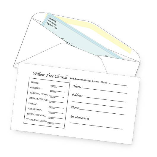 Church Payment Envelopes
