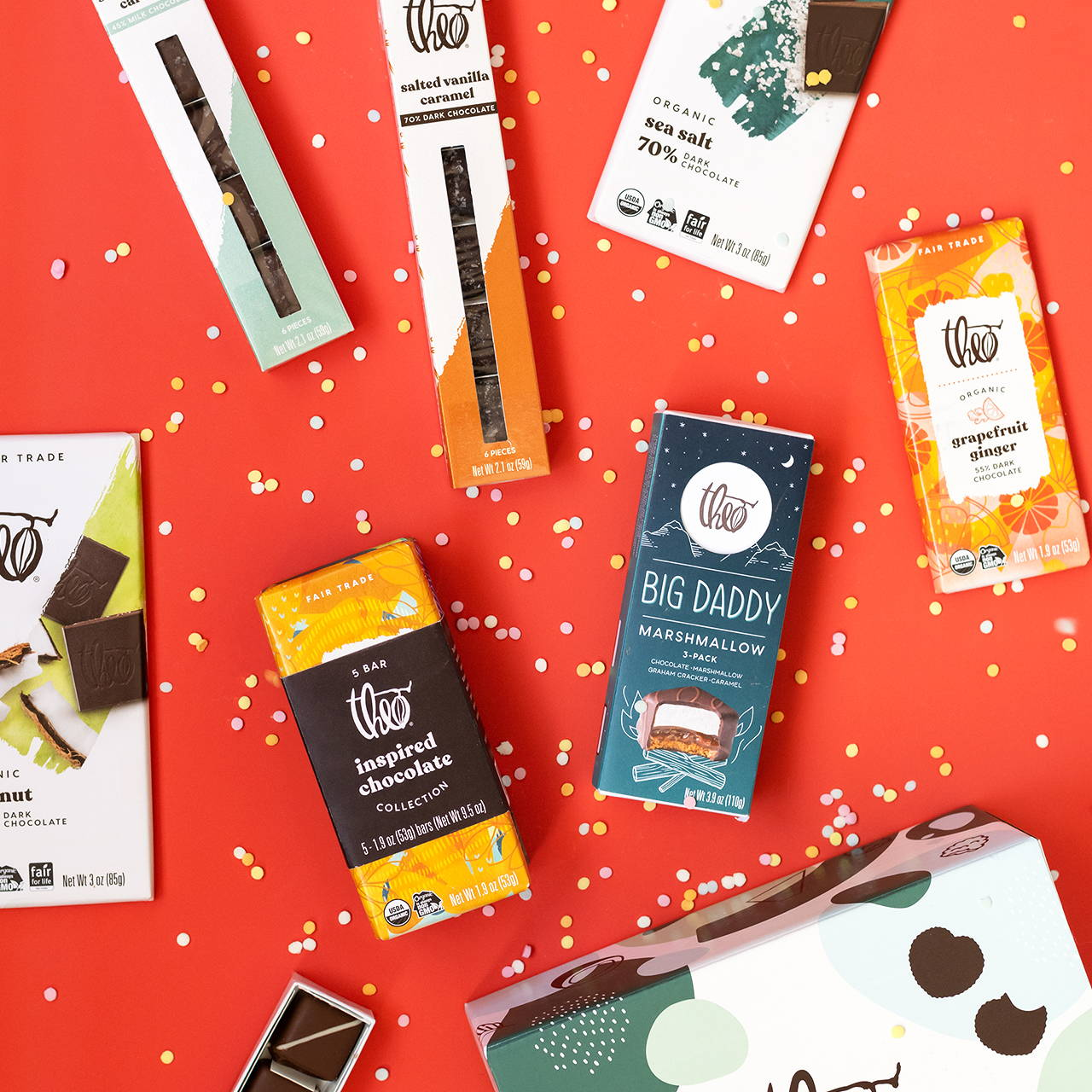 Theo Gift Boxes, Bars, Caramels and Bar Backs make the perfect thank you gifts.