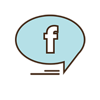 Photo of a blue facebook chat icon