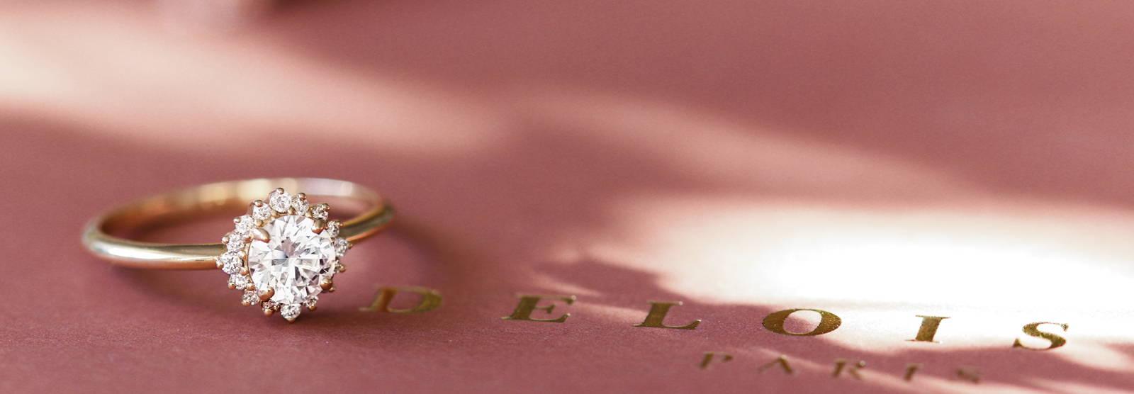 Bague de fiançailles en or 18 carats et diamants | Deloison Paris