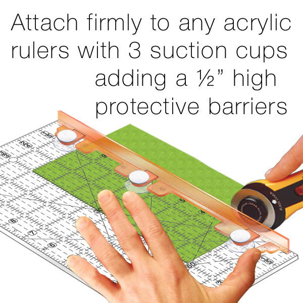 Finger Guards for regular acrylic rulers by Guidelines4Quilting