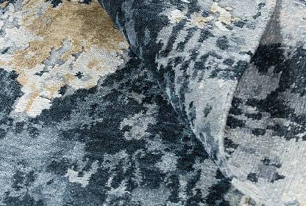 Detail of Sgraffito Obsidian Blue