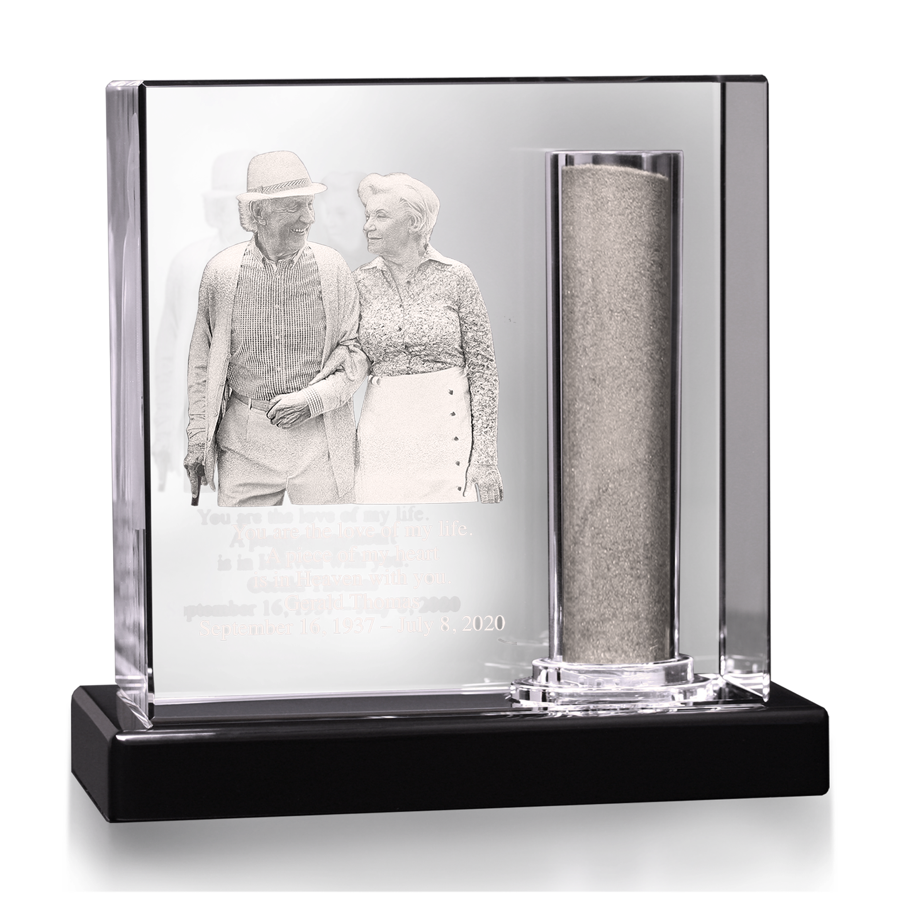 Memorial Urns made from crystal 3d Photo