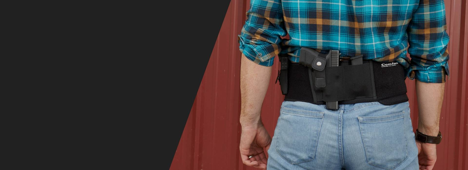 man using belly holster concealed carry