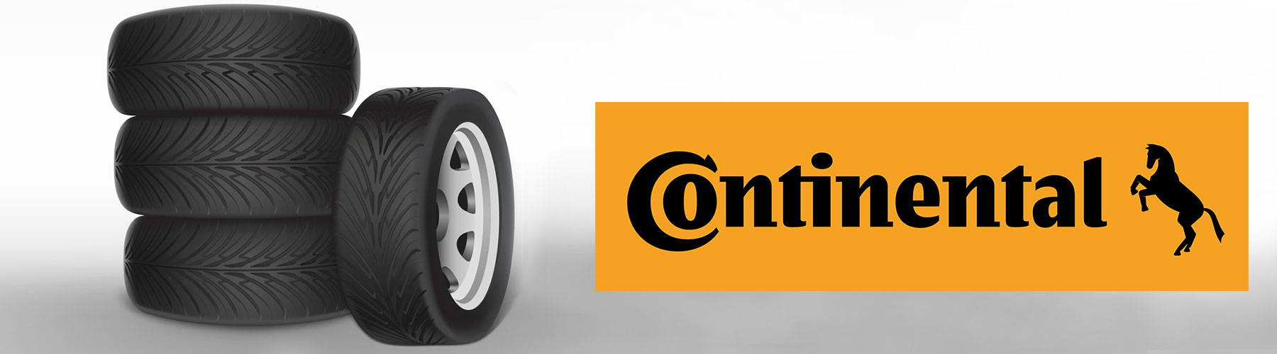 Continental logo with horse and car Tyres