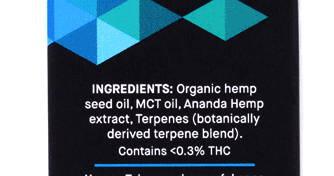 CBD Ingredients Ananda 600 mg