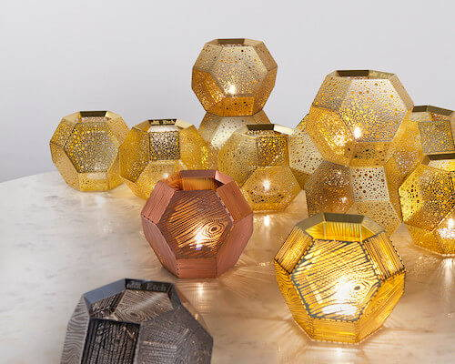 Contemporary candle holders from Tom Dixon.