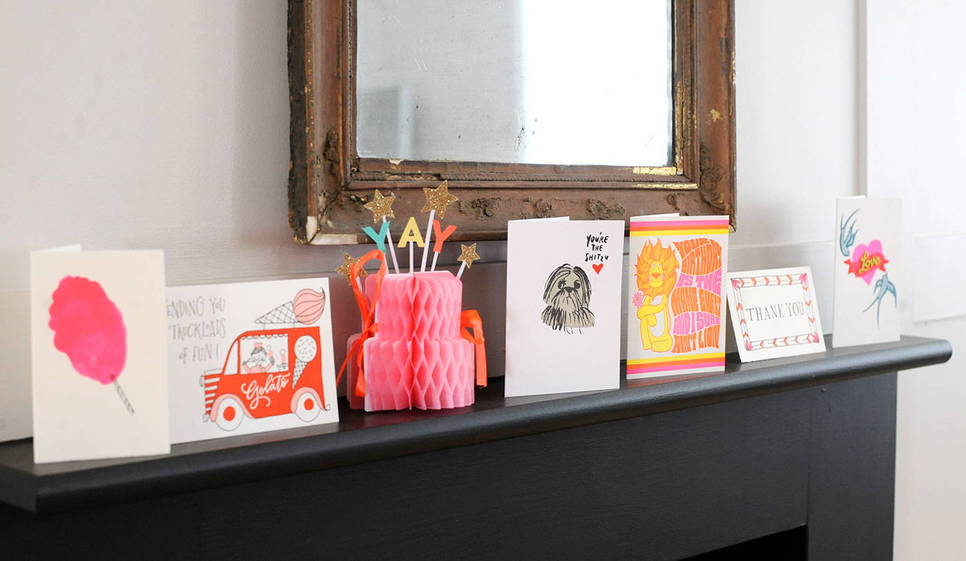 Greetings Cards on a mantlepiece