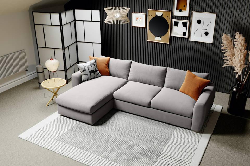 Snug Modern Chaise Sofa