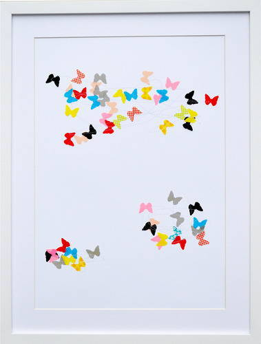 K Studio Colored Butterflies Art