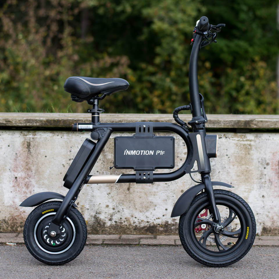 InMotion P1F hybrid scooter ebike left side square
