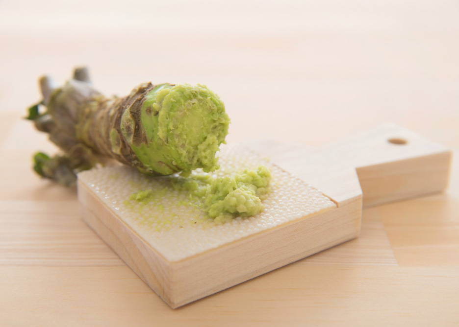 wasabi with traditional shark skin grater