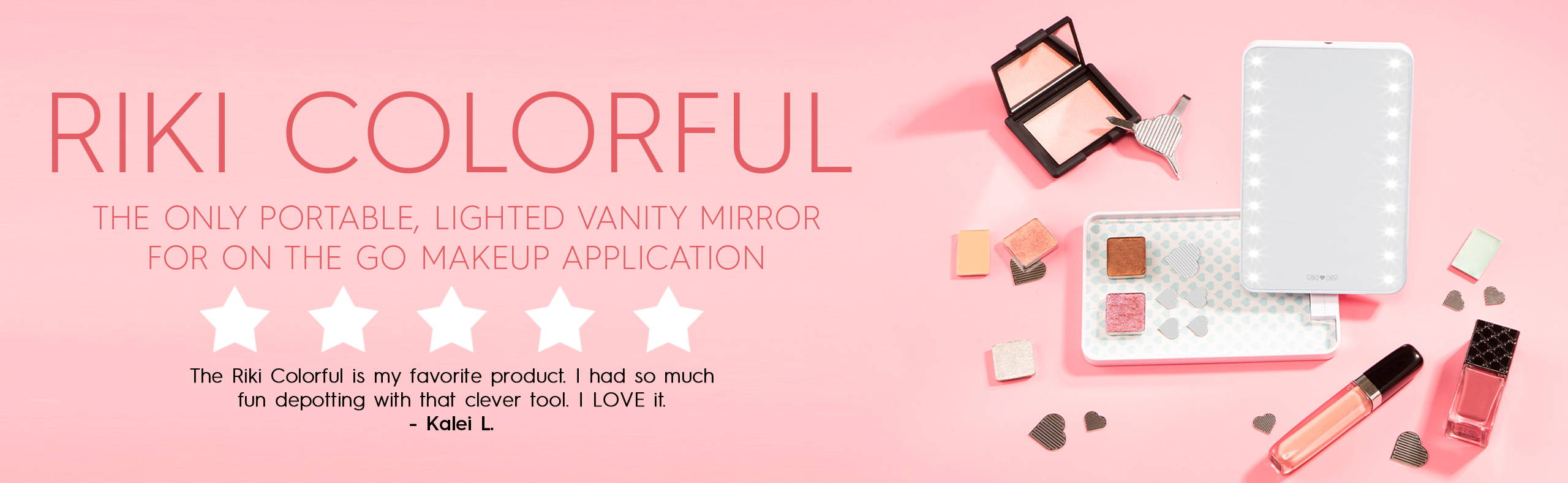 RIKI COLORFUL - the best-rated lighted travel makeup mirror specification page