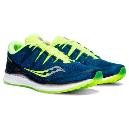 SAUCONY Tenis Freedom ISO 2, Blue/Citron, para Hombre