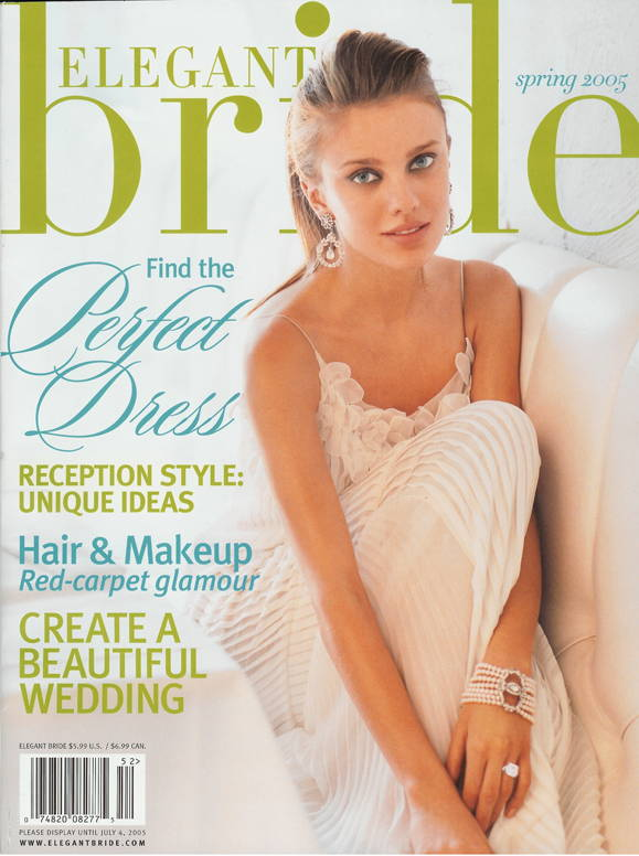 Pure Pearls Featured on the COVER of Elegant Bride, Spring 2005
