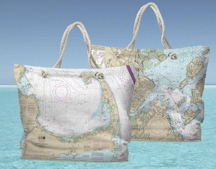 Nautical Chart Tote Bag