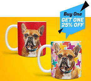 custom pet art coffee mug