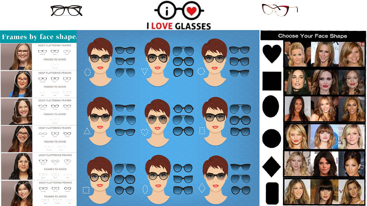 Shop the Right Glasses for your face