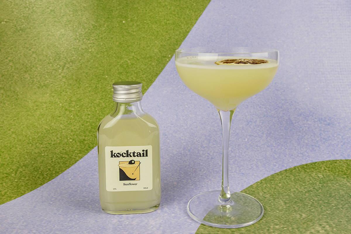 Sunflower cocktail bottle by Kocktail