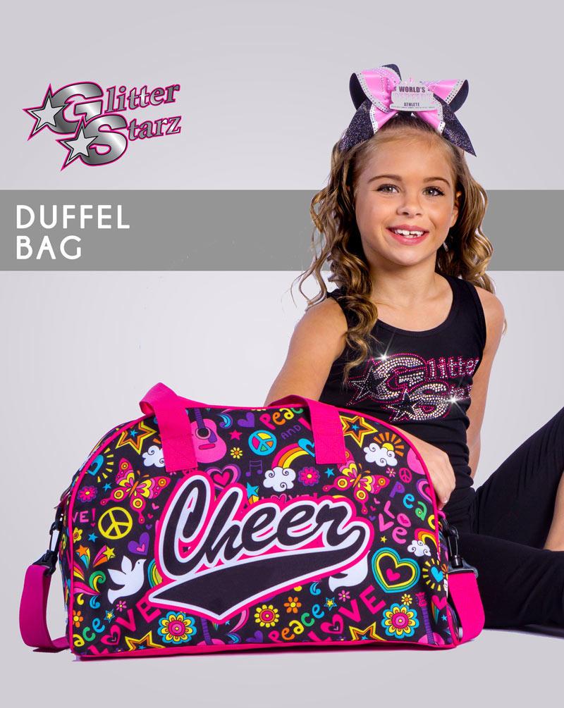 glitterstarz sublimated duffel bag custom team cheer dance pink