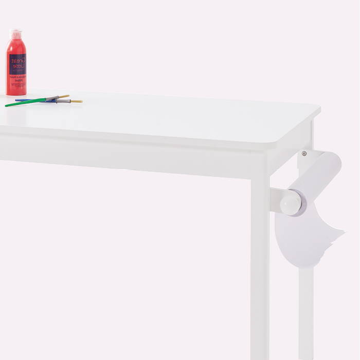 Children's play table with roll out paper