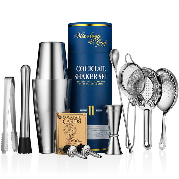 11-piece Boston Cocktail Shaker Set