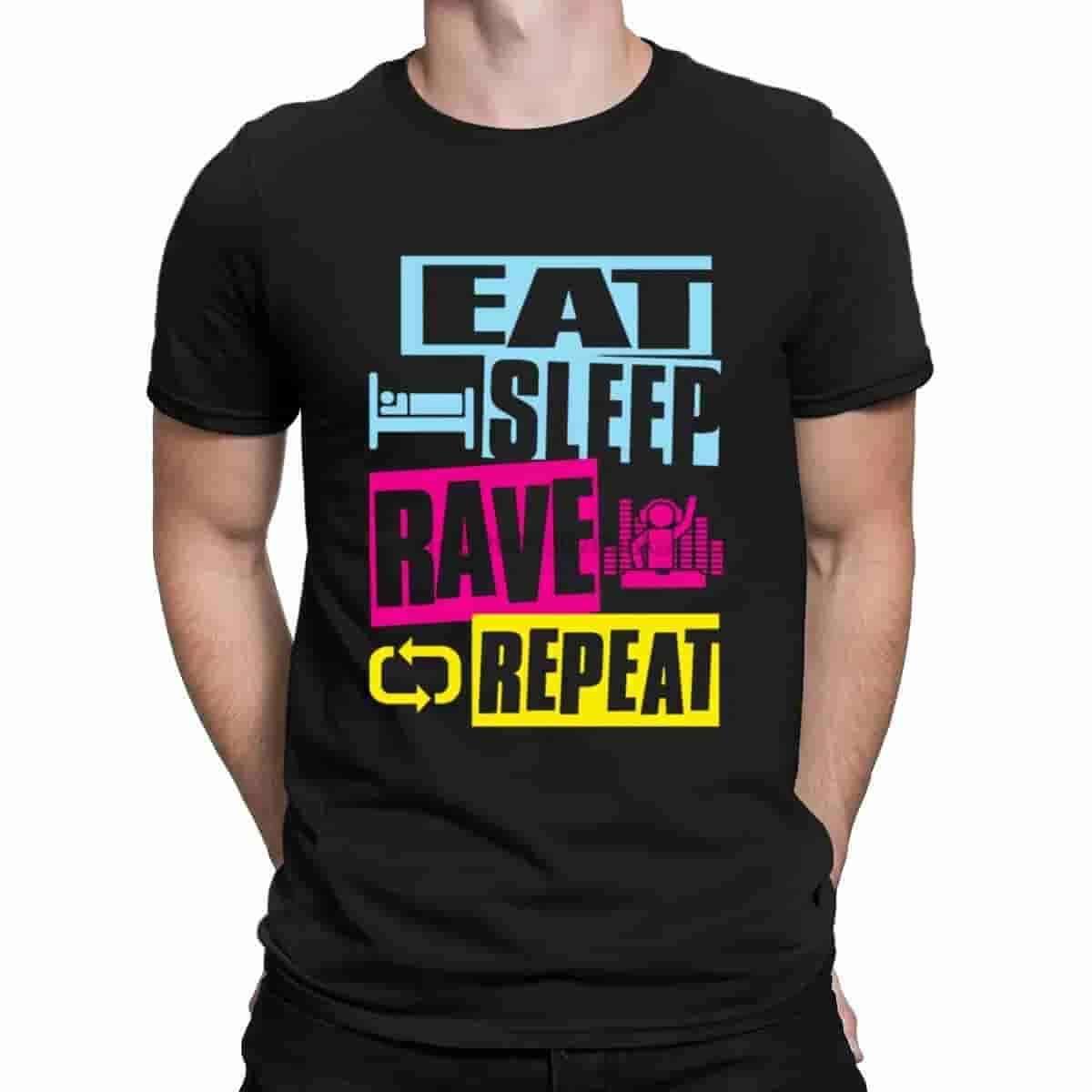 eat sleep rave repeat t shirt
