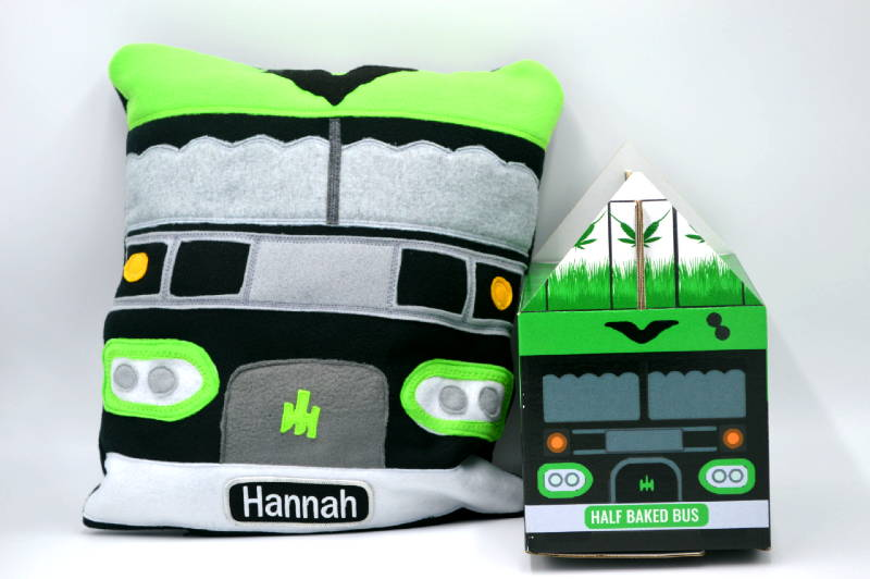 weed bus pillow van life shop tiny home box