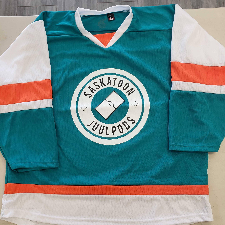 Custom Hockey Jersey Example Saskatoon Juulpods Kobe 5200